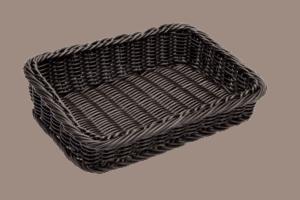 Wicker Basket Poly Ex Sml Slant 280x200x70x40mm BROWN