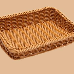 Wicker Basket Poly Ex Sml Slant 280x200x70x40mm NATURAL