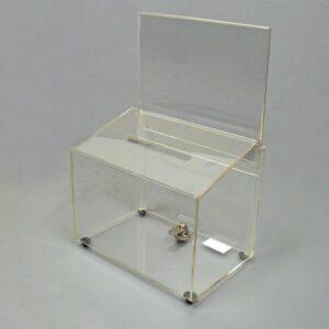 Ballot Box Rectangular CLEAR