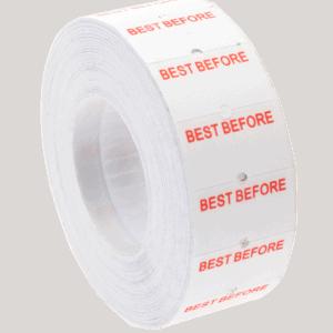 Blitz 1 Line Best Before Label