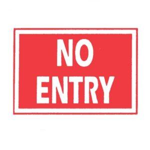 Sign 'No Entry'