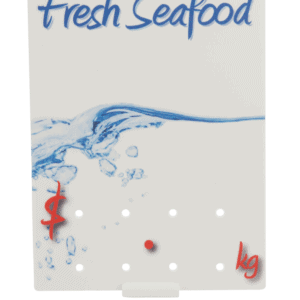 Fresh Seafood' Ticket 90x120mm