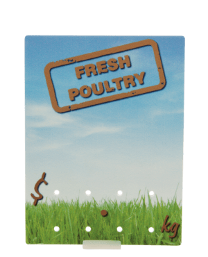 Fresh Poultry' Ticket 90x120mm
