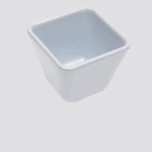 Square Bowl 70x70x42mm WHITE