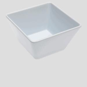 Square Bowl 130x130x70mm WHITE
