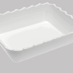 Scallop 335X265X85mm WHITE