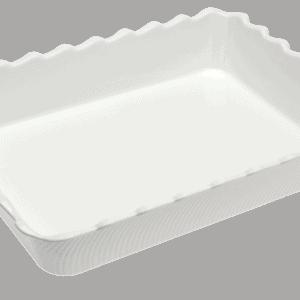 Scallop 410X310X75mm WHITE