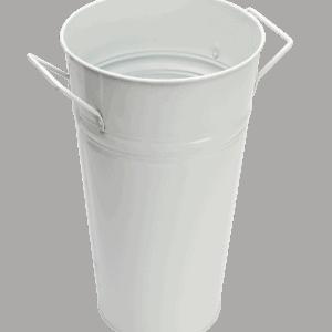 Metal Bucket Small WHITE
