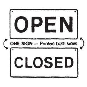 Sign Double Sided Open/Closed