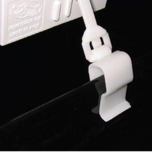 Swivel Rail Clip 6/12mm WHITE