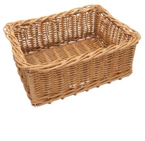 Poly Wicker Medium Basket 400x300x175mm NATURAL