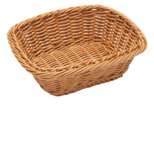 Poly Wicker Small Basket 230x190x80mm NATURAL
