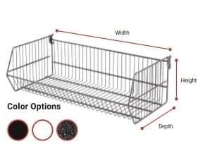 Folding Wire Basket with Brackets - White 900 X 400
