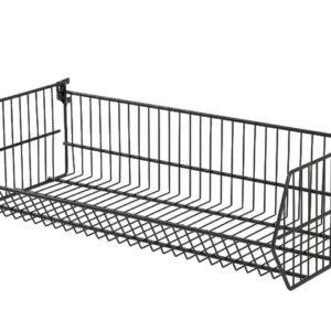 Folding Wire Basket with Brackets - Black  900 X 400