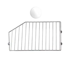Wire Basket Divider - White 450mm