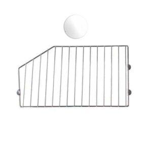 Wire Basket Divider - White 400mm