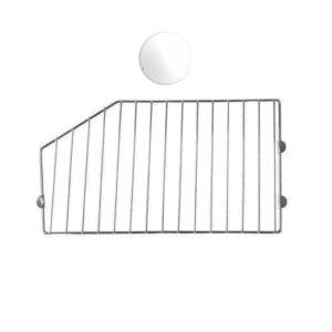 Wire Basket Divider - White 300mm