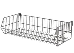 Wire Basket Divider - Hammertone 400mm