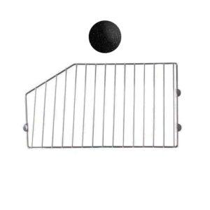 Wire Basket Divider - Black 400mm